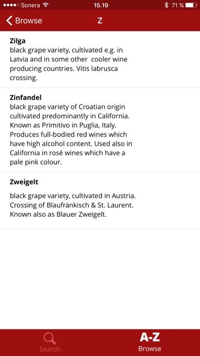 Wine Dictionary Скриншоты5