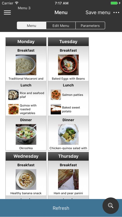 EasyMenu Balanced Meal Planner screenshot-2