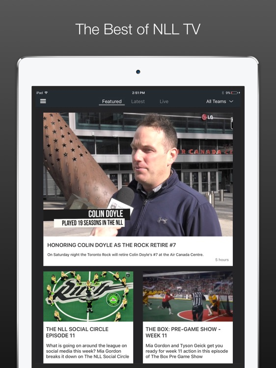 NLL TV | Lacrosse for iPad