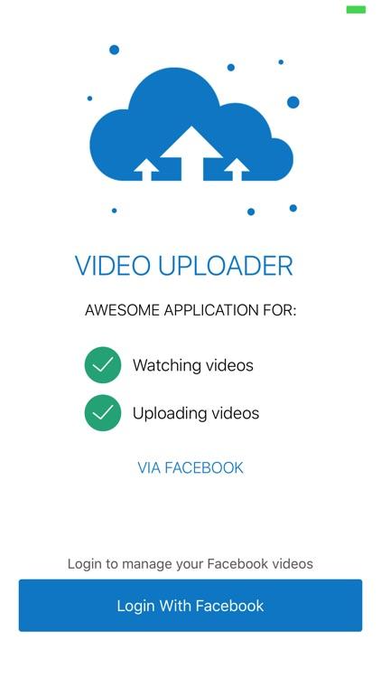 VideoUploader - Play & Upload Facebook Video