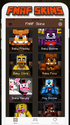 FNAF Skins For Minecraft PE Pocket Edition On The App Store - Skins para minecraft pe ipad