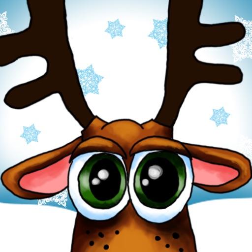 Xmas Reindeer Stickers
