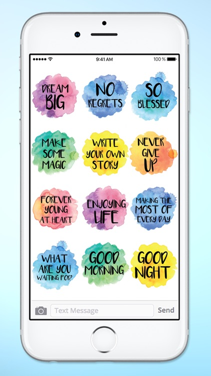 Positive Messages Watercolor Sticker Pack screenshot-4