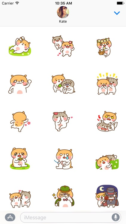 Animated Hamster Couple Love Stickers