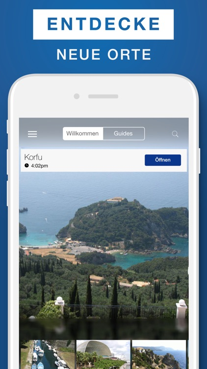 Korfu Reiseführer & Offline-Karte
