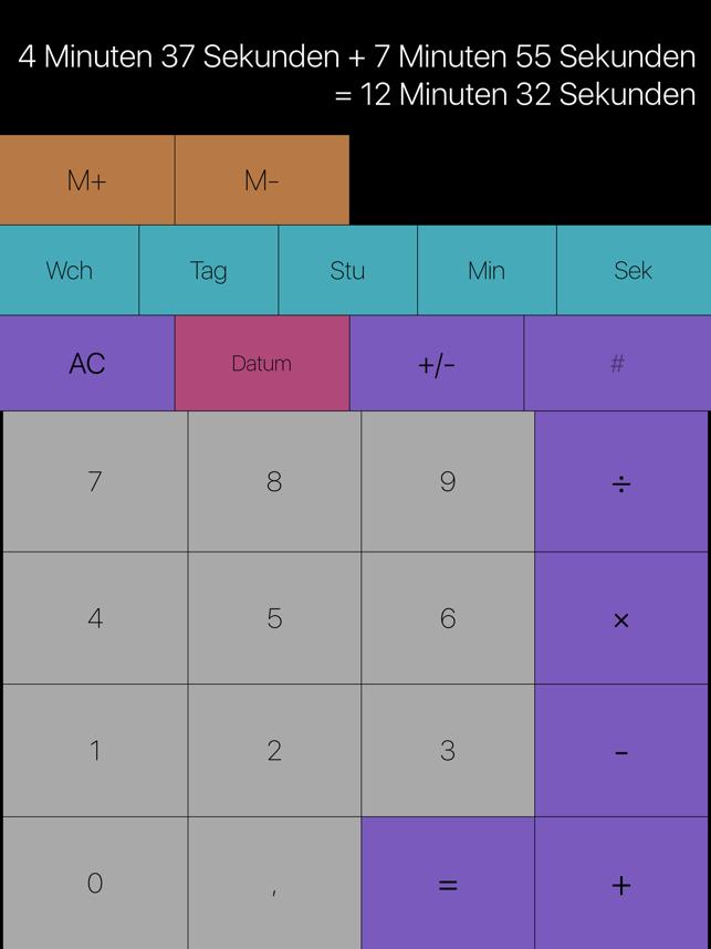 Time Calc - dauern und datieru Screenshot