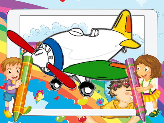 Painting Games for Kids - Aeroplane Coloring Pages | App ...