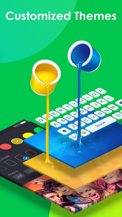 RainbowKey - Color keyboard themes, fonts & GIF app image