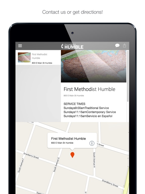 iPad Image of First Methodist Humble