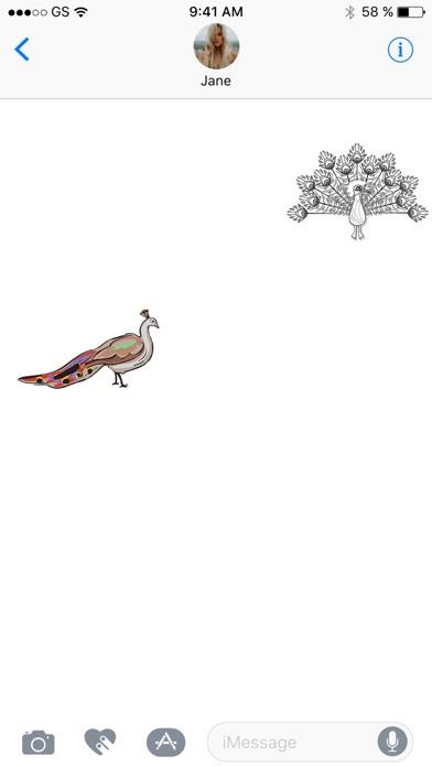Peacocks Sticker PackScreenshot von 2