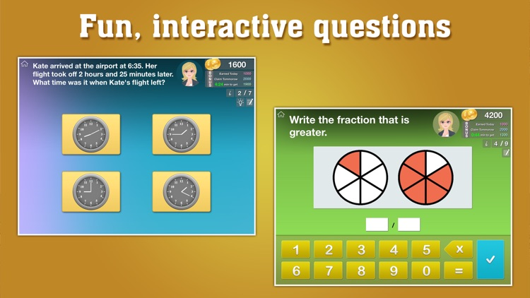 Grade 3 Math Fractions, Measurement, CCSS Learning screenshot-1