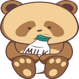 Brown Panda stickers by Rizki Denjaka