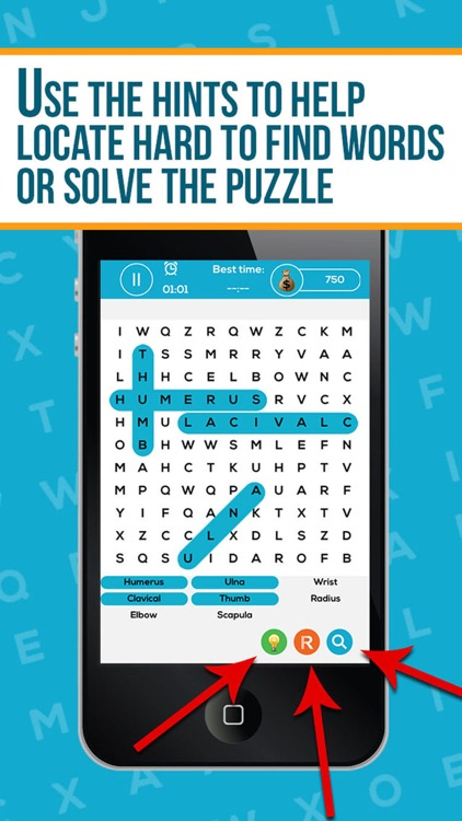 Anatomy Word Search Pro By Med Brain Apps