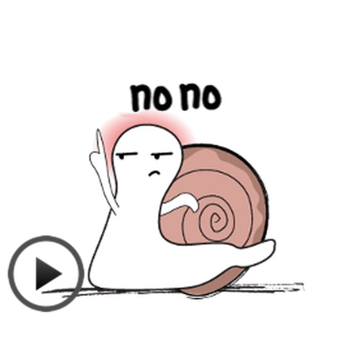 Animated Funny Snail Sticker