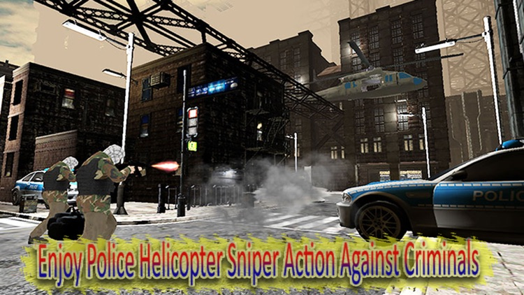 Police Helicopter Sniper - Cops And Robber Chase screenshot-3