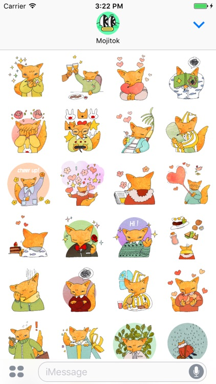 Fox Mori Stickers