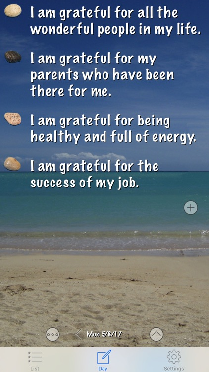 Gratitude Rock - Journal of Positive Thoughts