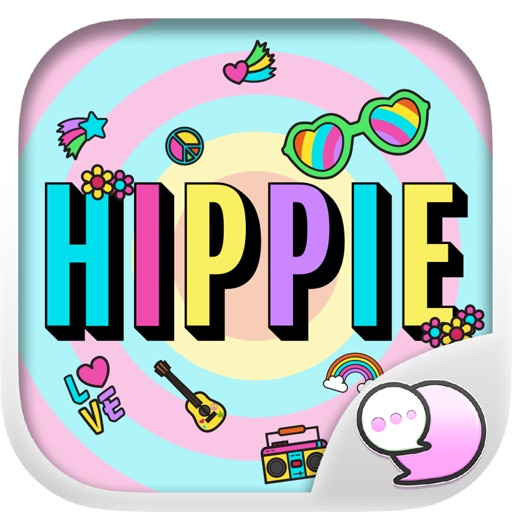Hippie Art Retro Accessory Stickers By ChatStick