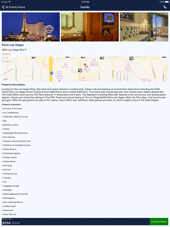 Screenshot #3 for i4vegas - Las Vegas Hotels, Yellow Pages Directory
