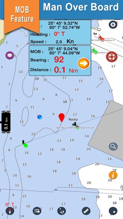 Marine Montserrat Nautical Map screenshot-3