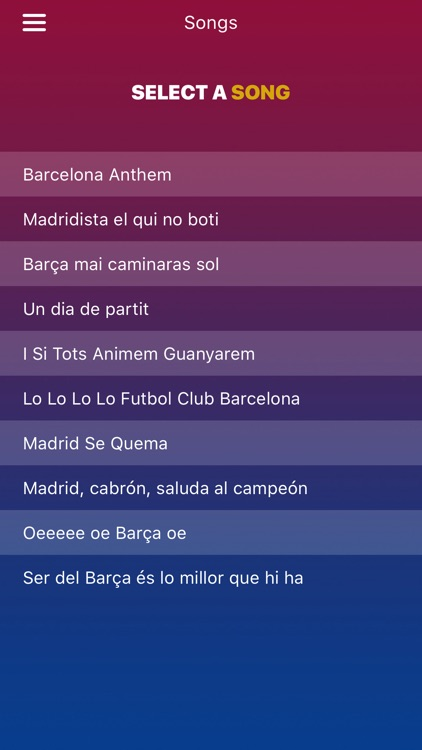 iBarca - FC Barcelona Chants and Songs for fans screenshot-0