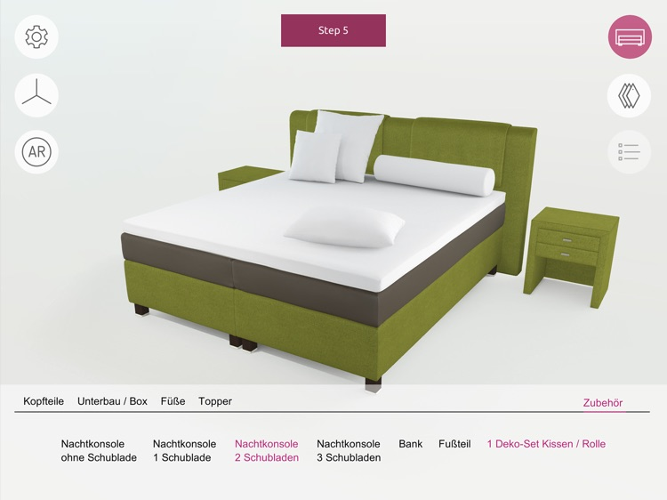 FEY boxspring configurator screenshot-0
