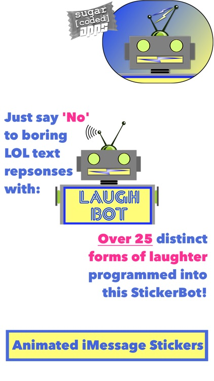 LaughBot: Animated Robot Stickers screenshot-2