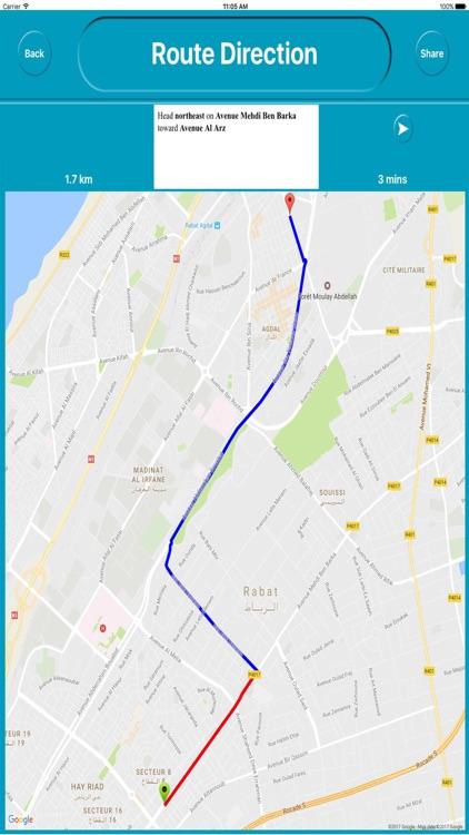 Rabat Morocco Offline City Maps with Navigation screenshot-4
