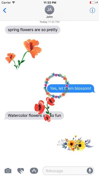 Watercolor spring flowers sticker list watercolor spring flowers stickers mightylinksfo