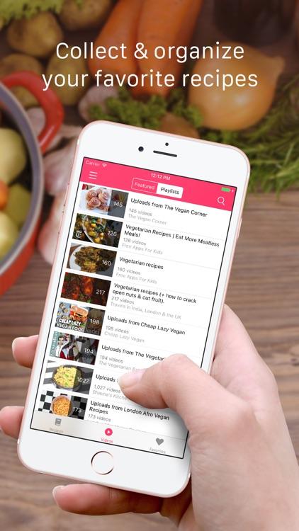 Vegan Recipes: Vegetarian food recipes & videos screenshot-3
