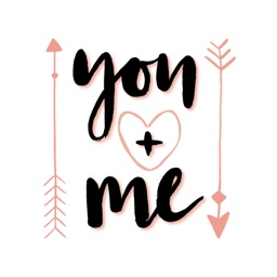 You and Me - Valentine Stickers