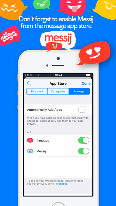 Messij, Emoji stickers for iMessageScreenshot of 5