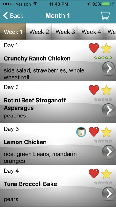 My Family Meal Planner Light review screenshots