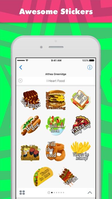 Alade ExpressionsによるI Heart Foodステッカーのスクリーンショット1