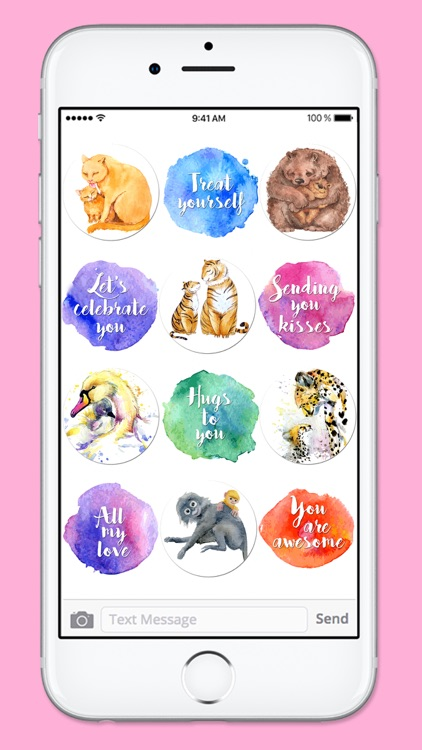 I Love You Mom Watercolor Mothers Day Sticker Pack screenshot-3