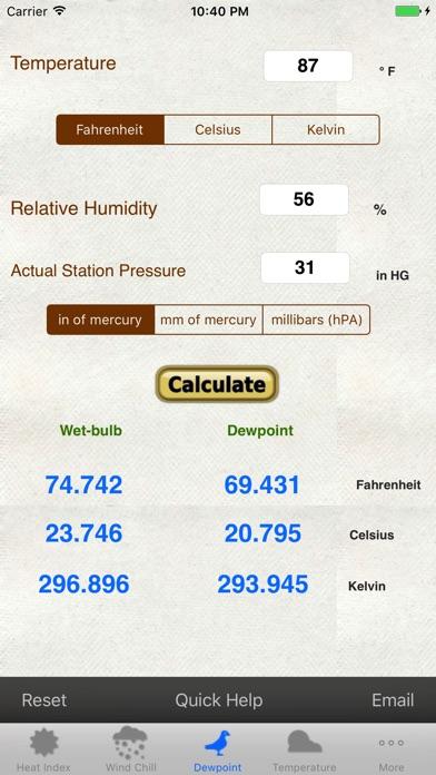 Weather Calc Conv Tempsolarpressurealtimeter review screenshots