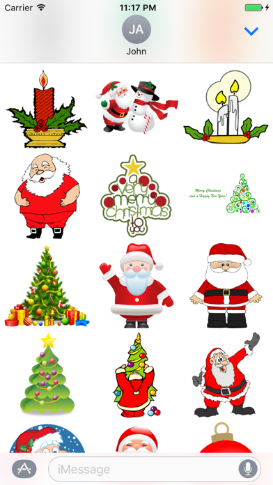 Christmas Sticker Pack+ screenshot one