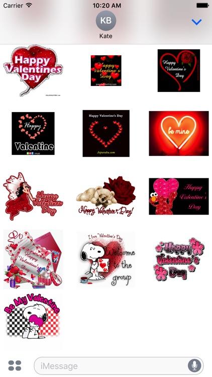 Valentine Animated Sticker for iMessage screenshot-3