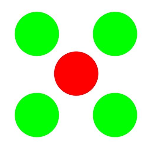 Circle the red dot!