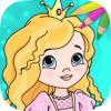 Juegos de princesas para pintar - colorear mágico
