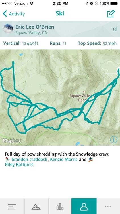 Snowledge: Skiing & Snowboarding GPS Tracker, More