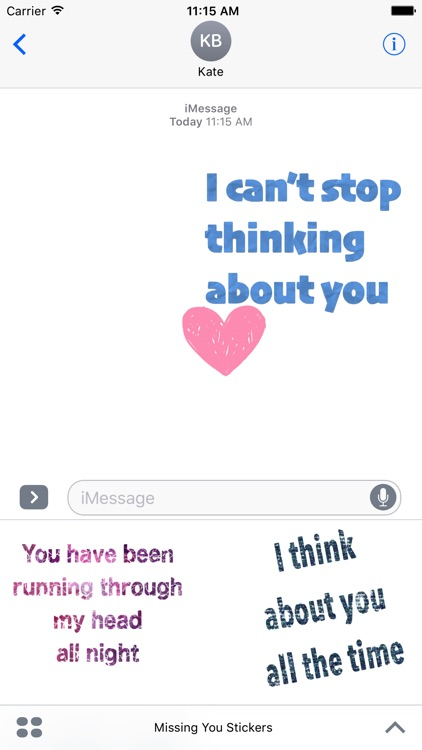 Missing You Stickers For iMessage