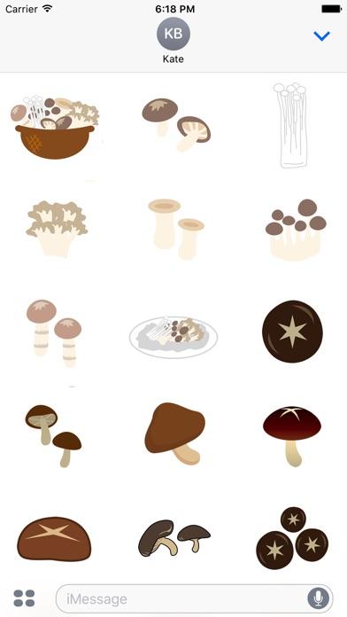 人食慾蘑菇貼紙屏幕截圖2