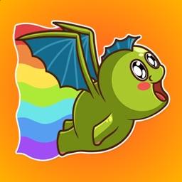 Green Dragon Stickers
