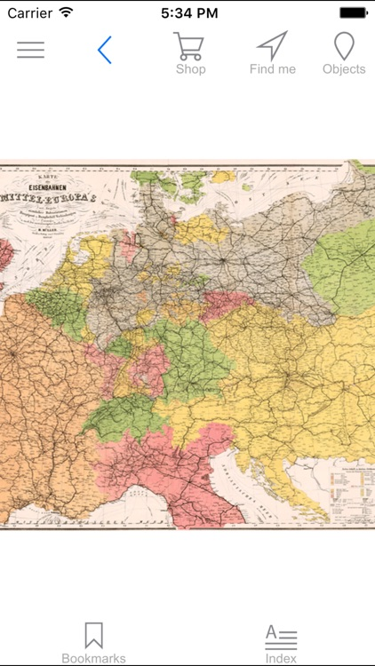 Central Europe (1884). Historical map.