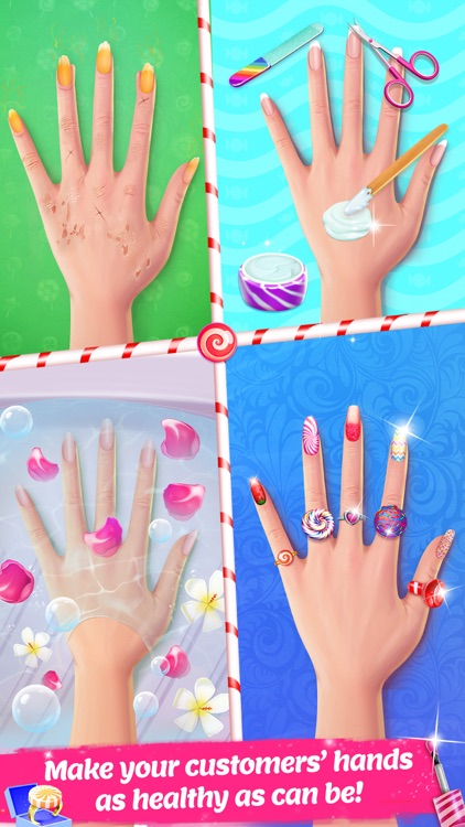 Candy Nail Art - Sweet Spa Fashion Game screenshot-3