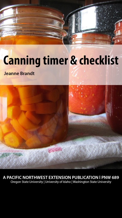 Canning timer & checklist screenshot-0