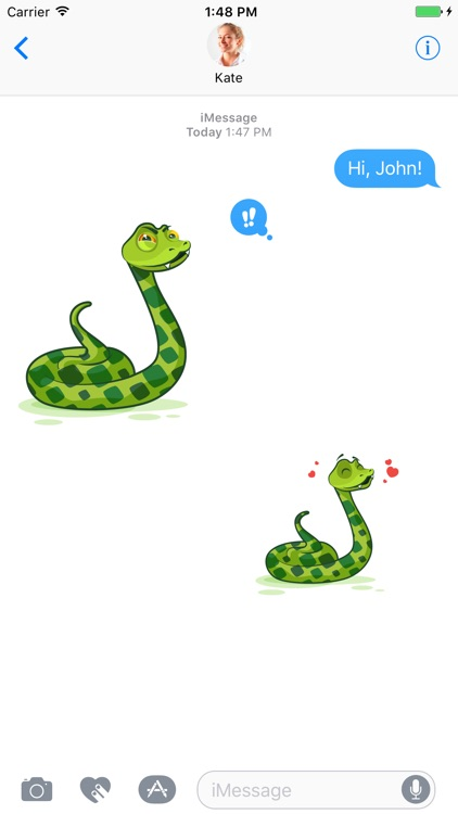 Snake - Stickers for iMessage screenshot-4