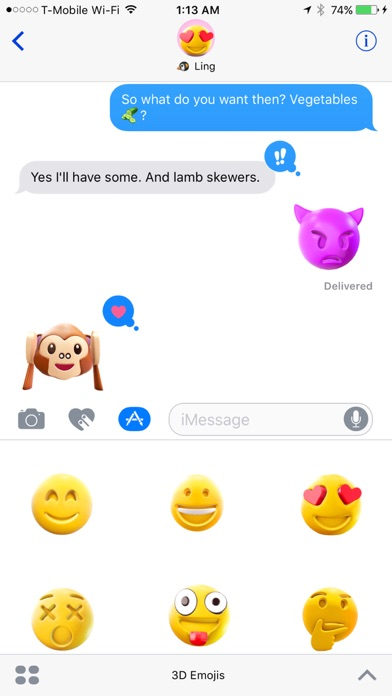 3D Emojis - 3D Animated Emoji Stickers