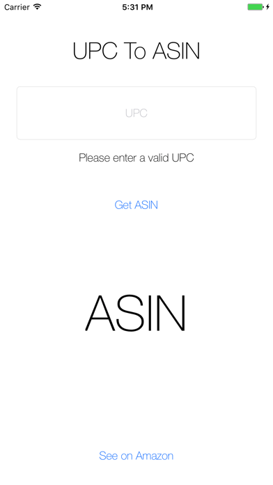 UPC To ASIN - Simple UPC To ASIN Converter screenshot two